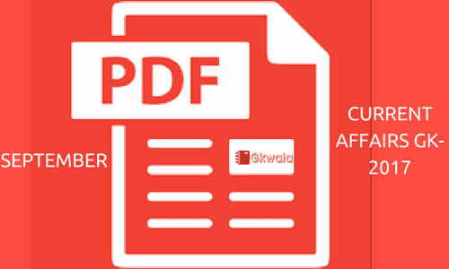 PDF download for Current Affairs GK Question/Answer