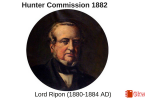 Hunter Commission- Indian Education Commission 1882