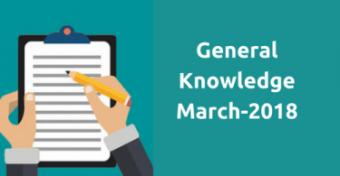 General Knowledge (March)-2018