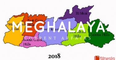 Meghalaya- Current Affairs General knowledge 2018