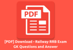 [PDF] Download - Railway RRB Exam GK Questions and Answer