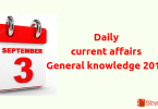 3 September 2018- Daily current affairs General knowledge