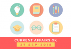Daily current affairs Gk- 27 September 2018