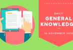 Daily Current affairs Gk- 16 November 2018