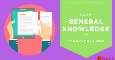 Daily Current affairs Gk- 17 November 2018