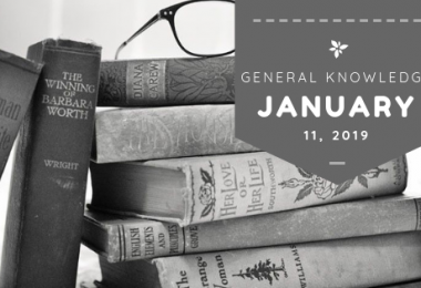 Current Affairs General Knowledge 2019