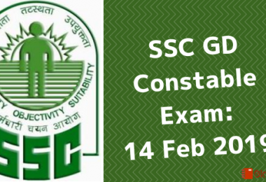 SSC GD (Constable) Exam- Question Paper 14 February 2019