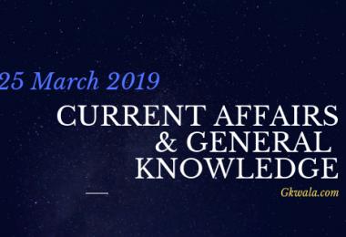 Current Affairs & General