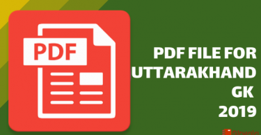 [PDF] Download for Uttarakhand Gk in Hindi- 2019