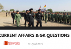 Current Affairs & GK Questions 10 April 2019