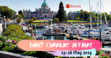 Daily Current Affairs GK Questions 15-16 May 2019