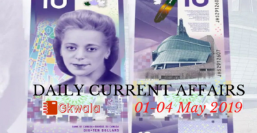 Daily Current Affairs & GK Questions 01-04 May 2019