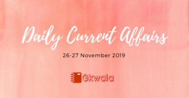 Daily Current Affairs 26-27 November 2019 questions and answer in Hindi