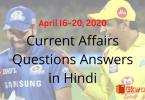 Current Affairs GK 2020 - Hindi